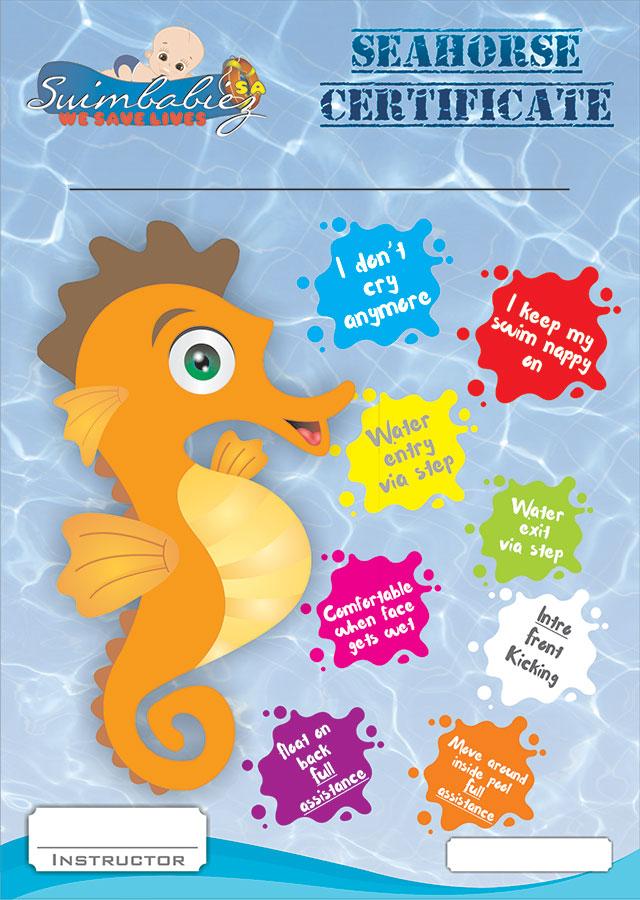 Babies Seahorse Certificate